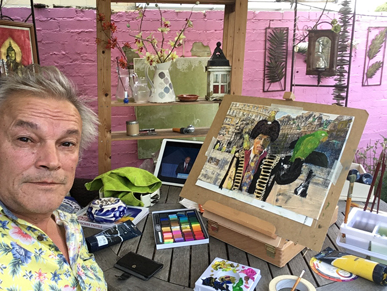 Whitstable comedian and artist Nick Wilty