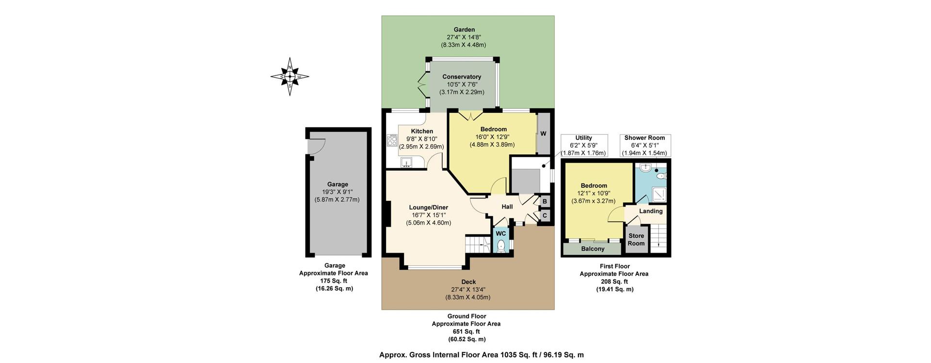 Your Property to Rent Here – Example 1 – Waterloo Road floorplan