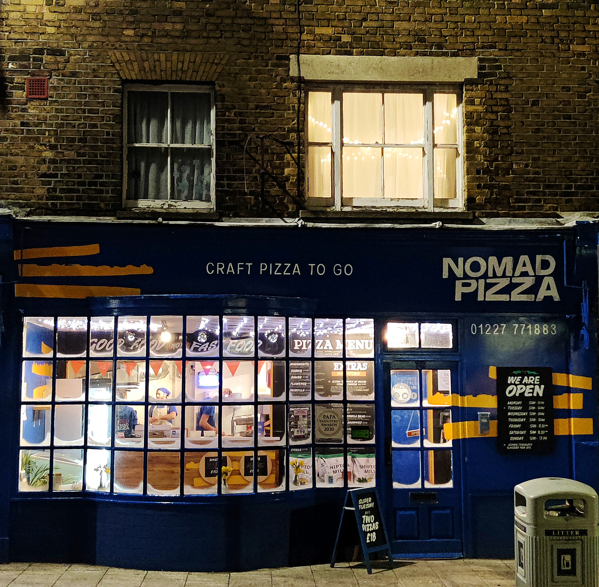 Nomad Pizza Whitstable Kent